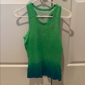Green and blue ombré Nike youth tank top
